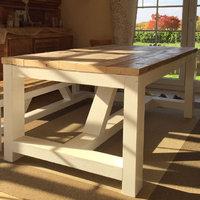 bauholz tische landhausstil timber classics. Black Bedroom Furniture Sets. Home Design Ideas